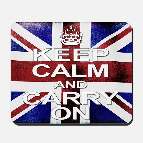 Distressed Keep Calm  Carry on Mousepad