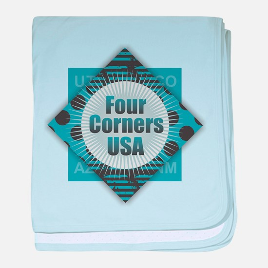 Four Corners USA baby blanket