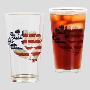 flagfist1 Drinking Glass