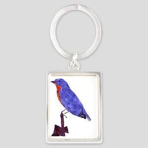 BlueBird Portrait Keychain