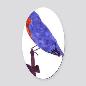 BlueBird Oval Car Magnet