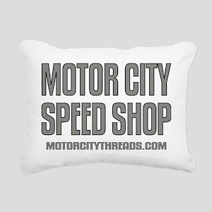mch speed shop clear2 FR Rectangular Canvas Pillow