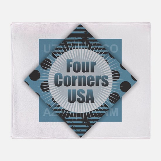 Four Corners USA Throw Blanket