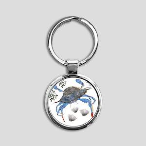 crab Round Keychain