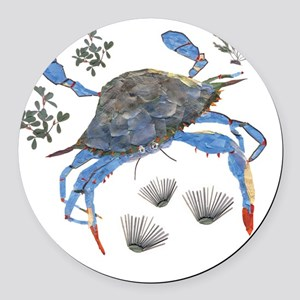 crab Round Car Magnet