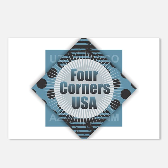 Four Corners USA Postcards (Package of 8)