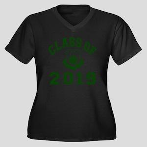 CO2019 SOHK  Women's Plus Size Dark V-Neck T-Shirt