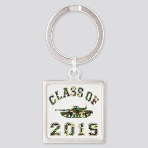 CO2019 Tank Camo Square Keychain