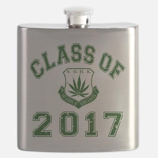 CO2017 SOHK Weed Green Distressed Flask
