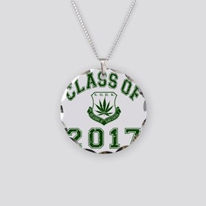 CO2017 SOHK Weed Green Distr Necklace Circle Charm