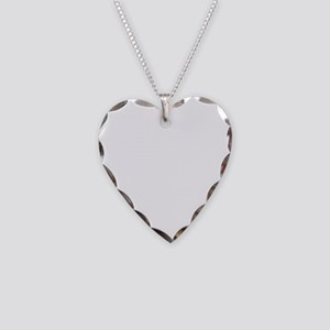 420_White Necklace Heart Charm
