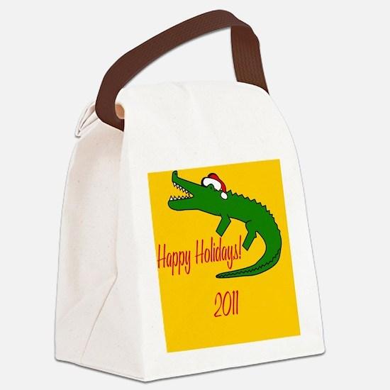 AlligatorXmas Canvas Lunch Bag