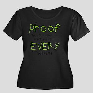 Proof Women's Plus Size Dark Scoop Neck T-Shirt