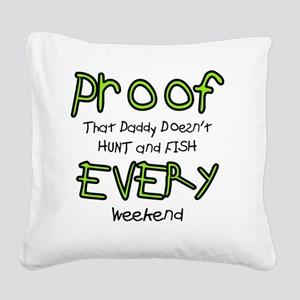 Proof Square Canvas Pillow