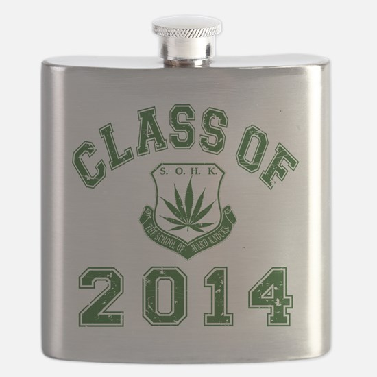 CO2014 SOHK Weed Green Distressed Flask