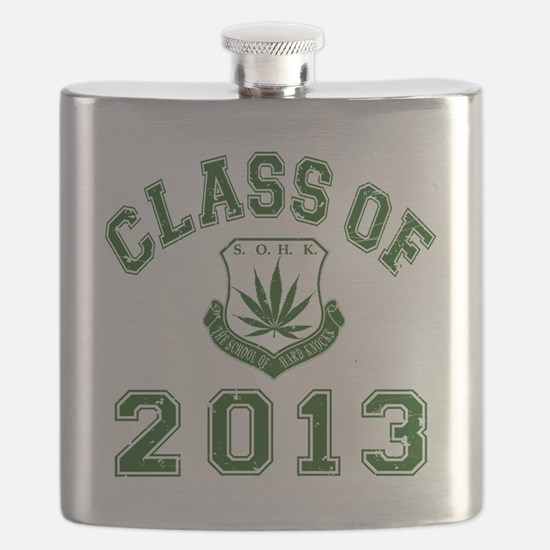 CO2013 SOHK Weed Green Distressed Flask