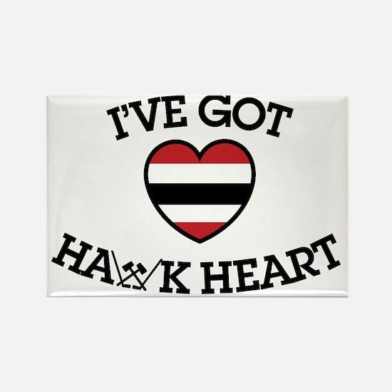 Ive Got Hawk Heart Rectangle Magnet