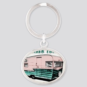 trailertrashcolor Oval Keychain