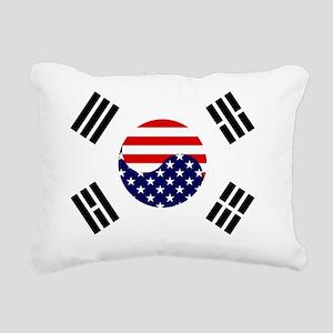 Korean-American Flag Rectangular Canvas Pillow