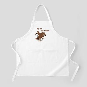 Retro Buckaroo Cowboy Western BBQ Apron