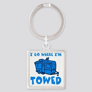 towedtrailersmalls Square Keychain