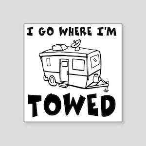 "towedtrailer Square Sticker 3"" x 3"""