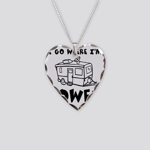 towedtrailer Necklace Heart Charm