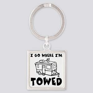 towedtrailer Square Keychain