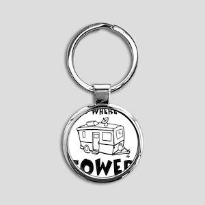 towedtrailer Round Keychain