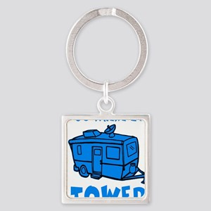 towedtrailerbutton Square Keychain