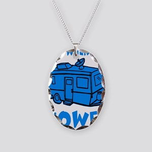 towedtrailerbutton Necklace Oval Charm