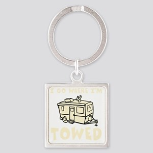 towedtrailercolor Square Keychain
