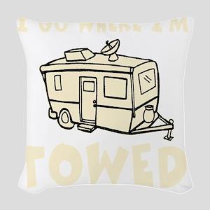 towedtrailercolor Woven Throw Pillow