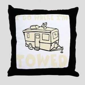 towedtrailercolor Throw Pillow