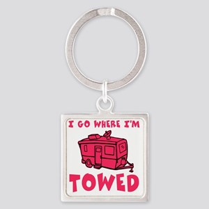 towedtrailerred Square Keychain