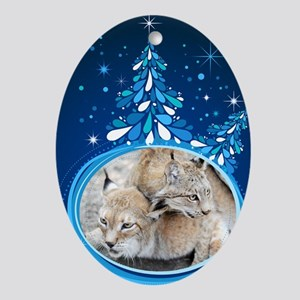 Christmas Card - Tobia and Duchess Oval Ornament