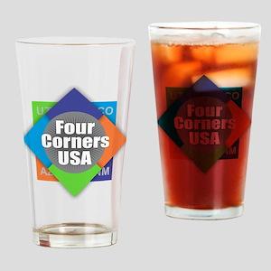 Four Corners Drinking Glass