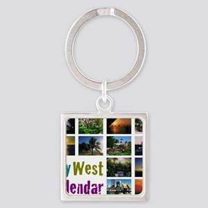11.5x9at254CalendarCover Square Keychain