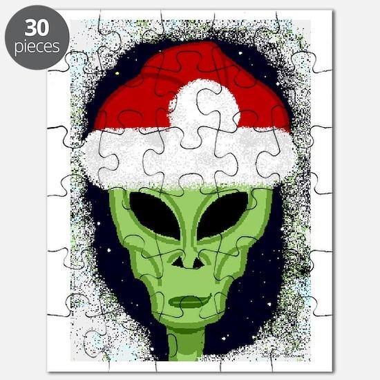 Xmas Alien Smile Card Puzzle