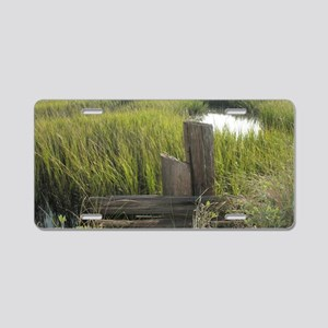 aiken mousepad edisto marsh Aluminum License Plate