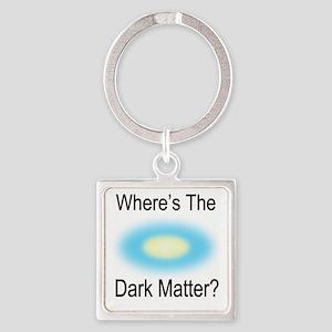 Where Is The Dark Matte Square Keychain