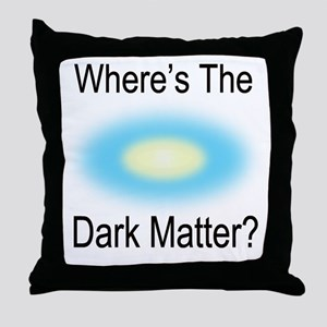 Where Is The Dark Matte Throw Pillow
