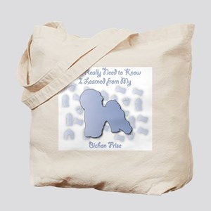 Learned Bichon Tote Bag