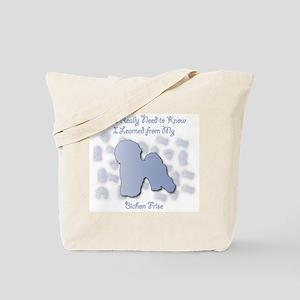 Learned Bichon Tote Bag