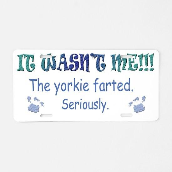 Yorkie Aluminum License Plate