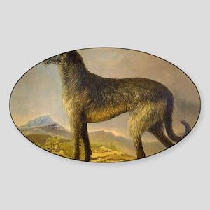 DeehoundCard2 Sticker (Oval)