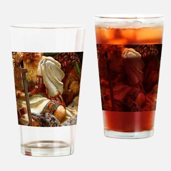 DeerhoundandKnight9x12_print copy c Drinking Glass