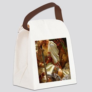 DeerhoundandKnight9x12_print copy Canvas Lunch Bag
