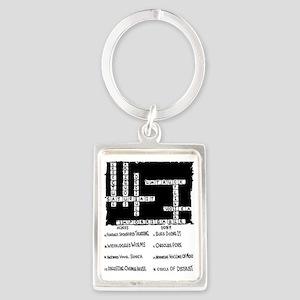 Toughest Crossword Puzzle Ever;  Portrait Keychain