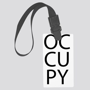 occupyblktext2 Large Luggage Tag